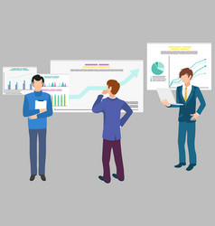teamwork data analytics infographics and diagrams vector image