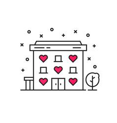 thin line simple motel icon vector image