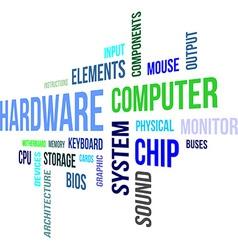 word cloud hardware vector image