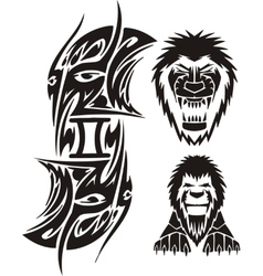 Zodiac Signs - lion Vinyl-ready set vector image