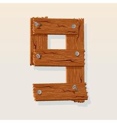 wooden type 9 vector image