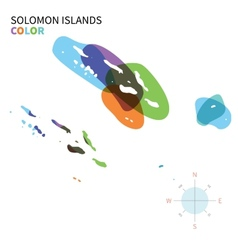 Abstract color map of Solomon Islands vector image vector image