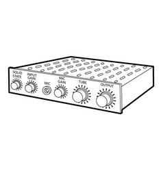amplifier icon outline style vector image vector image