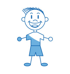 cartoon boy child young happiness image vector image