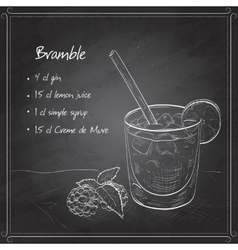 Cocktail Bramble on black board vector image vector image