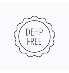 Dehp free icon non-toxic plastic sign vector