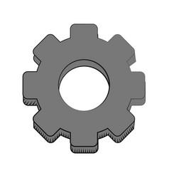 gear engineer work cooperation vector image vector image