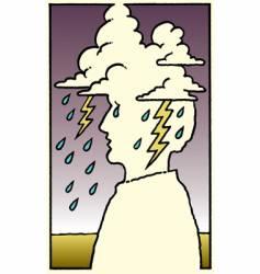 lightning storm man vector image