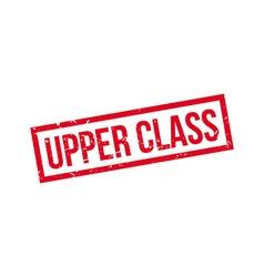 Upper class rubber stamp vector