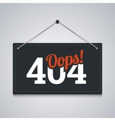 404 sign for website server error vector image