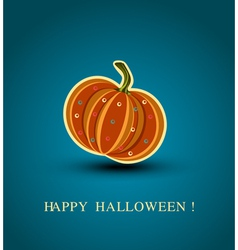 background with a pumpkin vector image vector image
