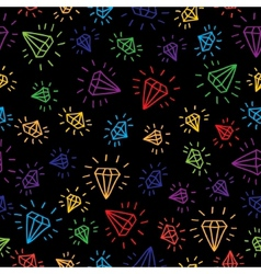Cartoon diamond seamless background Template for vector image vector image
