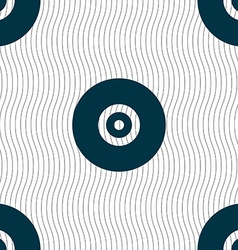 CD or DVD icon sign Seamless pattern with vector image
