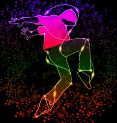dancing boy vector image vector image