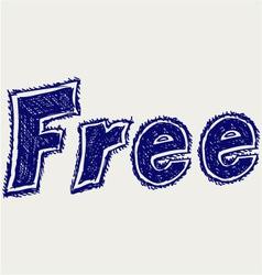 Free sticker vector image vector image