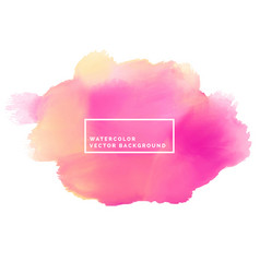 pink paint brish stroke watercolor background vector image vector image