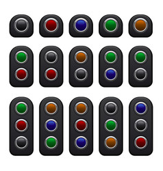 remote control panels set with one two and three vector image vector image