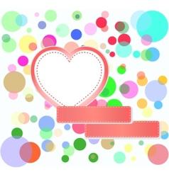 romantic love hearts vector image