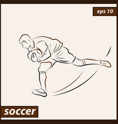 shows a soccer vector image vector image