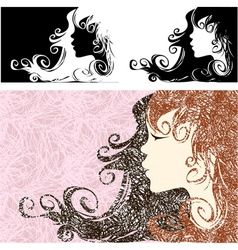 Abstract girl vector image