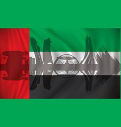 flag of united arab emirates with abu dhabi vector image