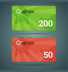 Gift card templates vector image vector image
