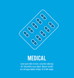 pharmacy pills medical health care vector image