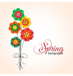 Spring Cutout Paper Flowers Bouquet of Spring vector image vector image