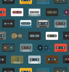 Vintage analogue music recordable cassettes vector image vector image