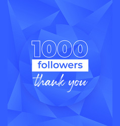 1000 followers banner design for social networks vector