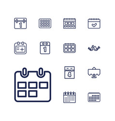 13 date icons vector
