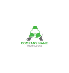 A arbor logo design vector