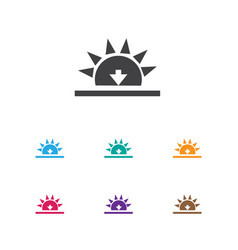 Air symbol on sundown icon vector
