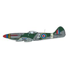 aircraft color scheme vector image