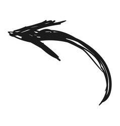 Arrow scribble isolated vector