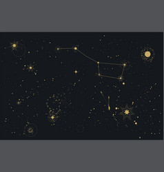 astronomy starry sky cosmos constellation polar vector image