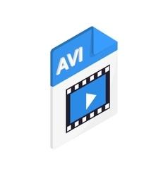 Avi icon isometric 3d style vector