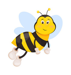 Bee cartoon cute honeybee insect vector