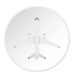 Big plane icon circle vector