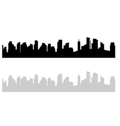 Black and white cityscape modern urban view on vector