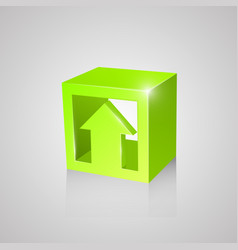 Box with arrow green vector