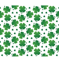 Bright seamless texture leaves clover vector