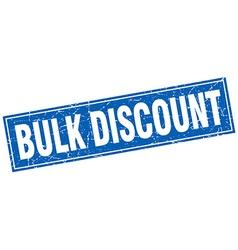 Bulk discount blue square grunge stamp on white vector