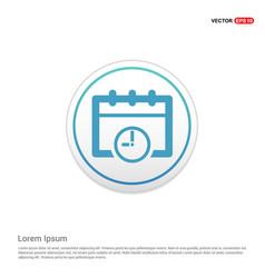 calendar web icon - white circle button vector image
