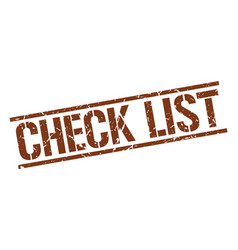 Check list stamp vector