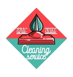 Color vintage cleaning service emblem vector