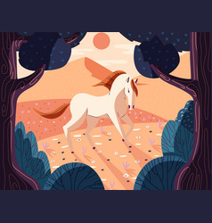 Colorful portrait a beautiful horse in nature vector
