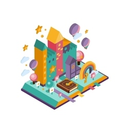 Colourful Castle Isometric vector