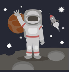cosmonaut isolated vector image