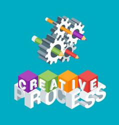 creative process concept vector image
